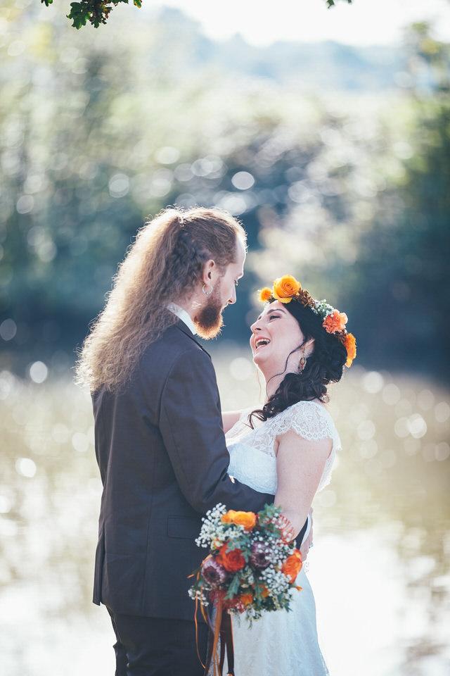 Mariage Automne - Couple Rire