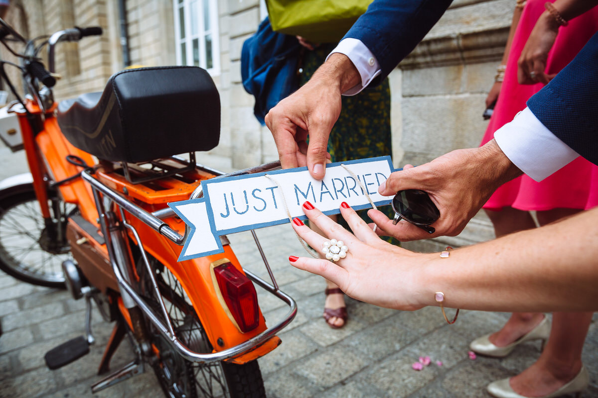 Mariage Bénodet - Just Married